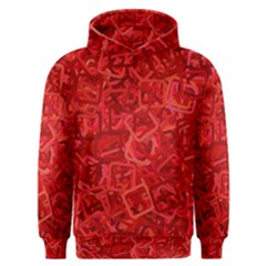 Red Pattern Technology Background Men s Overhead Hoodie