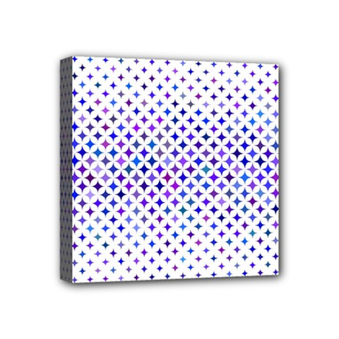 Star Curved Background Geometric Mini Canvas 4  X 4  (stretched) by Mariart