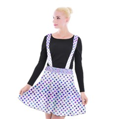 Star Curved Background Geometric Suspender Skater Skirt by Mariart