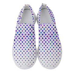 Star Curved Background Geometric Women s Slip On Sneakers