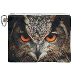 Owl s Scowl Canvas Cosmetic Bag (xxl) by WensdaiAddamns
