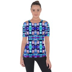 Ml 2 5 Shoulder Cut Out Short Sleeve Top