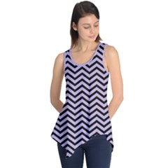 Chevron  Effect  Sleeveless Tunic by TimelessFashion