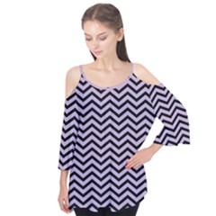 Chevron  Effect  Flutter Tees