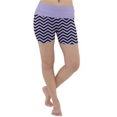 Chevron  Effect  Lightweight Velour Yoga Shorts by TimelessFashion
