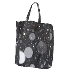 Splatter - Grayscale Giant Grocery Tote by WensdaiAmbrose