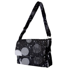 Splatter - Grayscale Full Print Messenger Bag by WensdaiAmbrose