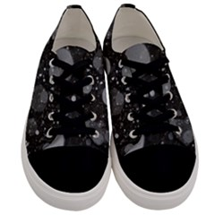 Splatter   Grayscale Men s Low Top Canvas Sneakers