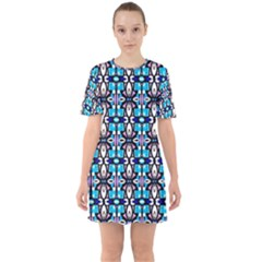 Ml 37 Sixties Short Sleeve Mini Dress by ArtworkByPatrick