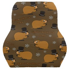 Groundhog Day Pattern Car Seat Back Cushion  by Valentinaart