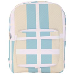 Pink And Blue Full Print Backpack