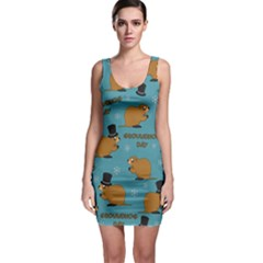Groundhog Day Pattern Bodycon Dress