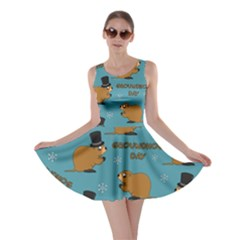 Groundhog Day Pattern Skater Dress