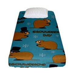 Groundhog Day Pattern Fitted Sheet (single Size)