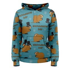 Groundhog Day Pattern Women s Pullover Hoodie