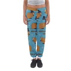 Groundhog Day Pattern Women s Jogger Sweatpants