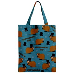 Groundhog Day Pattern Zipper Classic Tote Bag