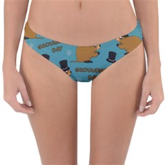 Groundhog Day Pattern Reversible Hipster Bikini Bottoms by Valentinaart
