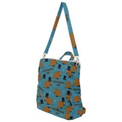 Groundhog Day Pattern Crossbody Backpack