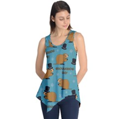 Groundhog Day Pattern Sleeveless Tunic