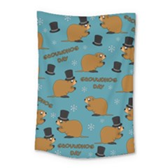 Groundhog Day Pattern Small Tapestry