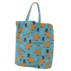 Groundhog Day Pattern Giant Grocery Tote