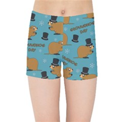 Groundhog Day Pattern Kids  Sports Shorts