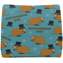 Groundhog Day Pattern Seat Cushion by Valentinaart