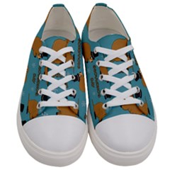 Groundhog Day Pattern Women s Low Top Canvas Sneakers