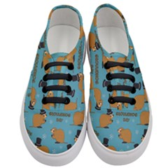 Groundhog Day Pattern Women s Classic Low Top Sneakers