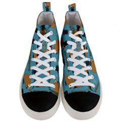 Groundhog Day Pattern Men s Mid Top Canvas Sneakers