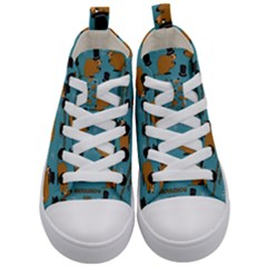 Groundhog Day Pattern Kids  Mid Top Canvas Sneakers