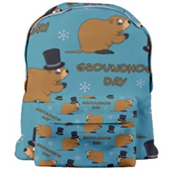 Groundhog Day Pattern Giant Full Print Backpack