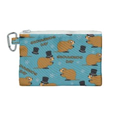 Groundhog Day Pattern Canvas Cosmetic Bag (medium)