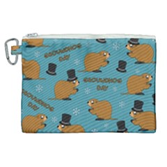 Groundhog Day Pattern Canvas Cosmetic Bag (xl)