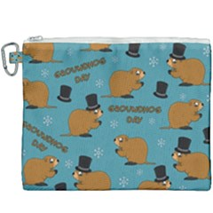 Groundhog Day Pattern Canvas Cosmetic Bag (xxxl)