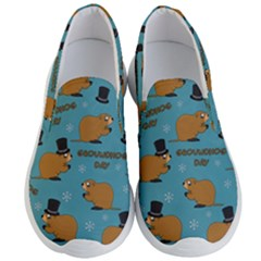 Groundhog Day Pattern Men s Lightweight Slip Ons