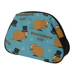 Groundhog Day Pattern Full Print Accessory Pouch (small)