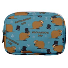 Groundhog Day Pattern Make Up Pouch (small)