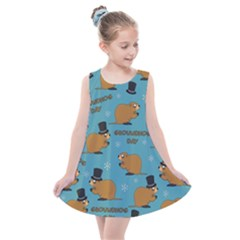 Groundhog Day Pattern Kids  Summer Dress