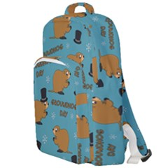Groundhog Day Pattern Double Compartment Backpack