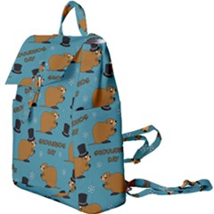 Groundhog Day Pattern Buckle Everyday Backpack