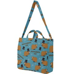 Groundhog Day Pattern Square Shoulder Tote Bag