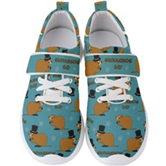 Groundhog Day Pattern Men s Velcro Strap Shoes