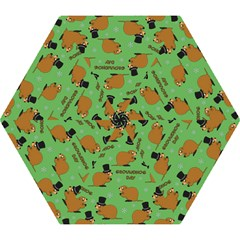 Groundhog Day Pattern Mini Folding Umbrellas