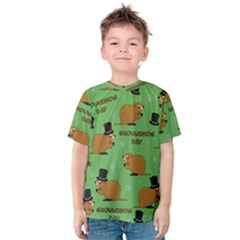 Groundhog Day Pattern Kids  Cotton Tee