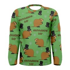 Groundhog Day Pattern Men s Long Sleeve Tee