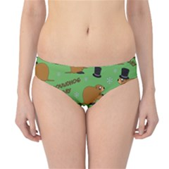 Groundhog Day Pattern Hipster Bikini Bottoms