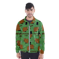 Groundhog Day Pattern Windbreaker (men)