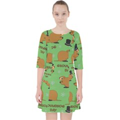 Groundhog Day Pattern Pocket Dress